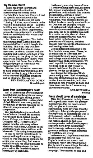Gail's letter to the Press, July 26, 1990