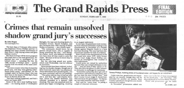 Grand Rapids Press, July 29, 1990, page A1