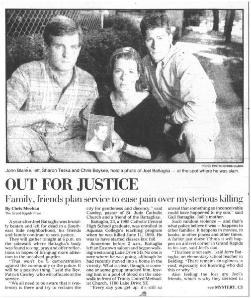 Grand Rapids Press, June 11, 1991, page C1