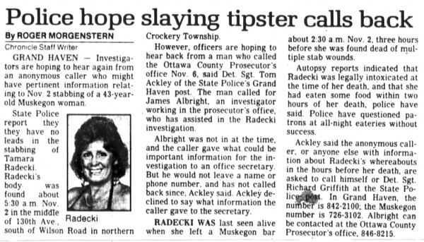 23 November 1989, Muskegon Chronicle