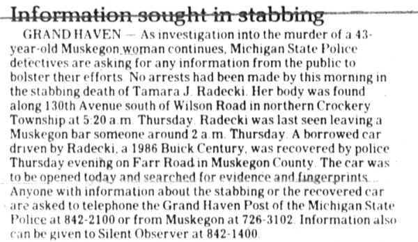 6 November 1989, Muskegon Chronicle
